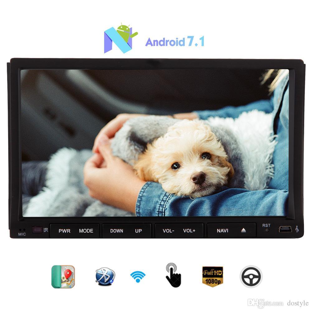 Android Stereo Octa-core 7'' Sliding Capacitive Touchscreen car dvd Headunit GPS Navigation Bluetooth Wifi/4g/3g/Mirror Link USB/SD Autoradi