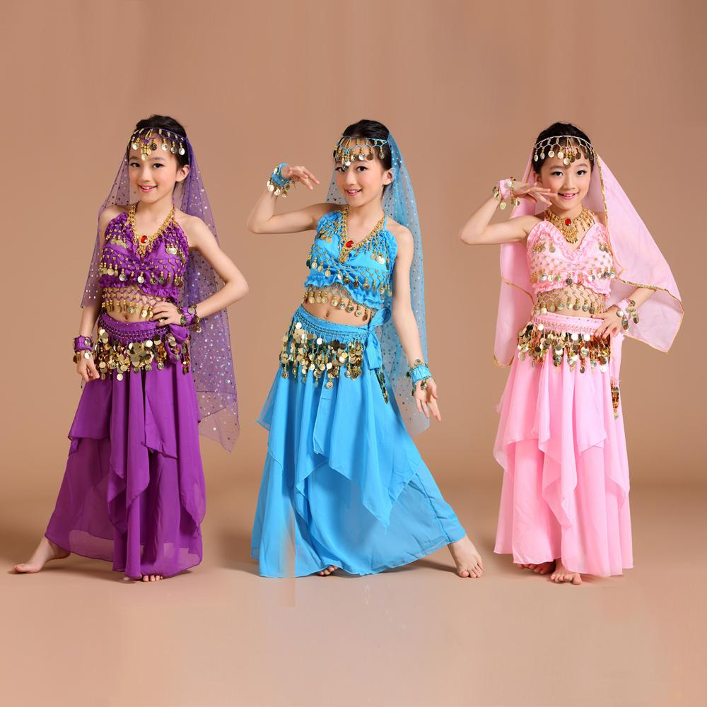 2019 Children Belly Dance Costume Kids Indian Dance Dress Child Bollywood  Costumes For Women Performance Wear From Gingerliu, $31.32