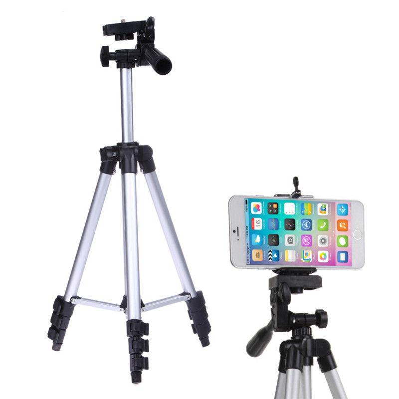 Professionelle Kamera Stativ Halter für iPhone iPad Samsung Digitalkamera + Tisch / PC-Halter + Handyhalter + Nylon-Tragetasche