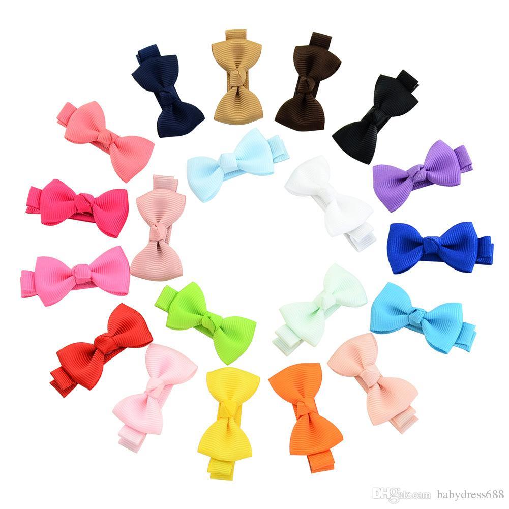 아기 여자 헤어 클립 어린이 헤어 액세서리 795 무료 배송 나비 도매 다채로운 귀여운 헤어핀 어린이 리본 활 부티크 머리