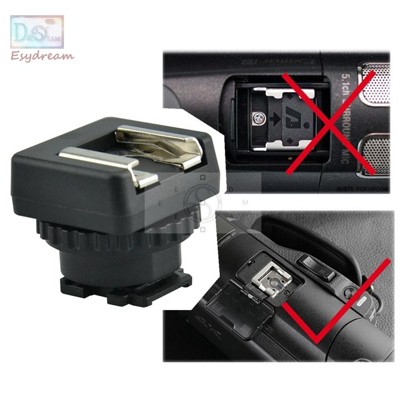 MSA-MIS Standard Hot Cold Shoe Conversor Adaptador Para Sony Multi Interface Shoe DV Camcorder Mount