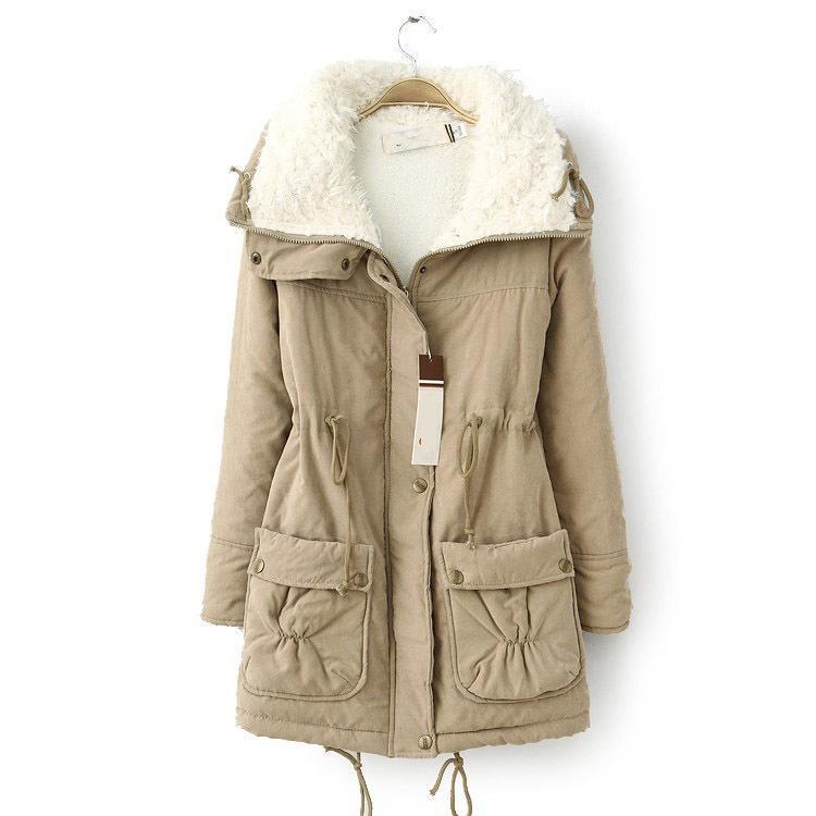 Новый Осень Зима куртка пальто женщины куртка Женская одежда твердые длинная куртка тонкий плюс размер женские зимние куртки и пальто 2016 S18101102