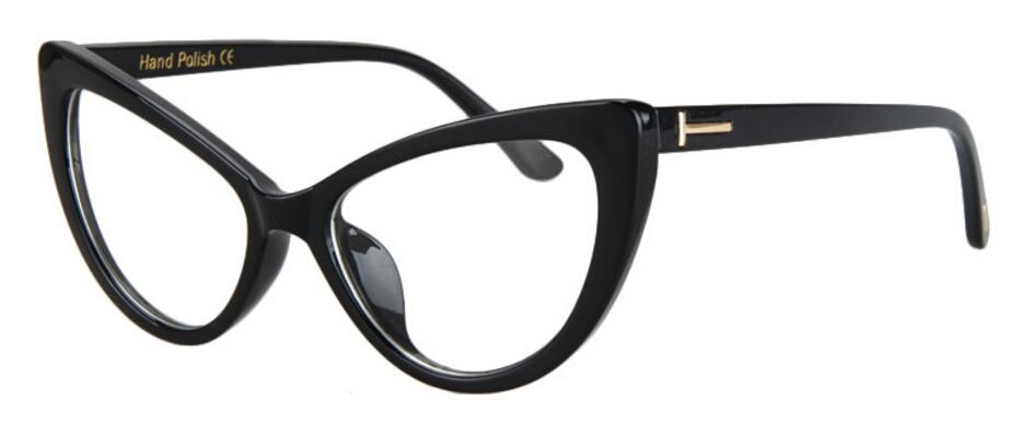 New 2017 Luxury Fashion Cat Eye Clear Glasses Women Vintage Brand Ladies Eyeglasses Spectacle Frames Glasses Clear