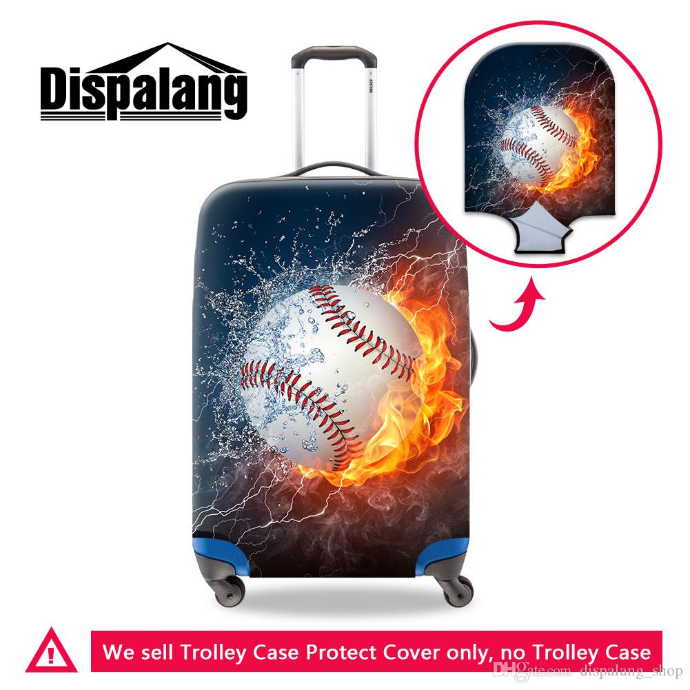 Unique Luggage Cover Protector Coolest Suitcase Covers for Travelling Prints Baseball Pattern on Luggage Cover for Women Men Elastic