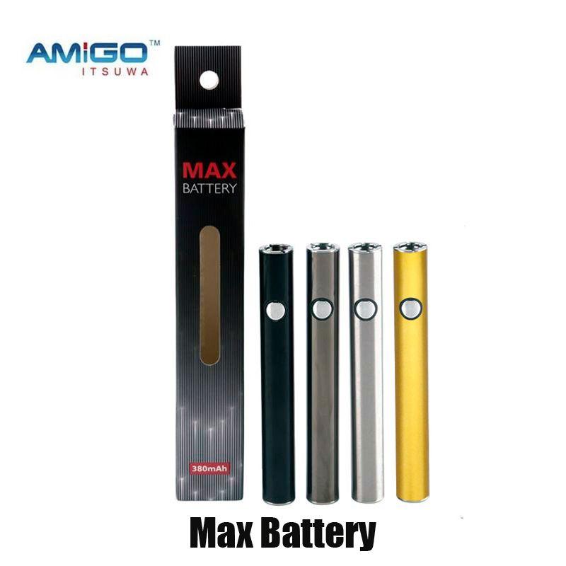 itsuwa amigo max 예열 배터리 380mAh VV 하단 USB 충전 510 스레드 vape 배터리 펜 리버티 카트리지 탱크 정품을위한 펜