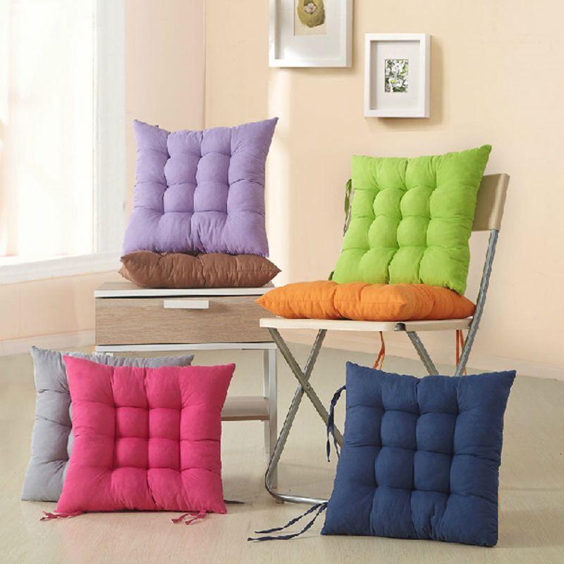 Japonia Styl Chair Poduszki Mat Pad Wygodne Poduszka Siedzenia Pad 40x40cm Home Decor Rzuć Poduszki Poduszki Poduszki Cojines Almohadas