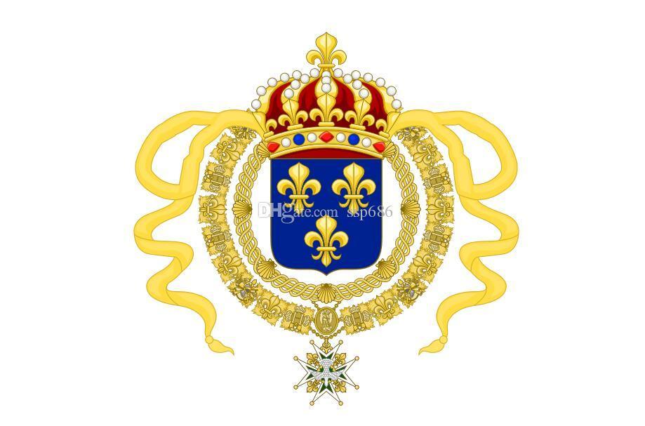 Francja Nowa Francja Royal Standard of King Louis XIV 3FT X 5FT Polyester Banner Latający 150 * 90 cm Niestandardowa flaga na zewnątrz