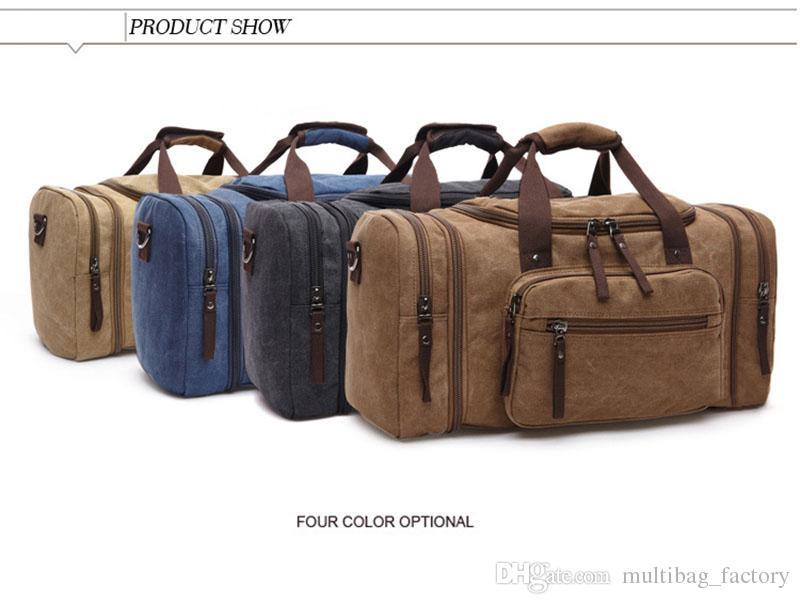 Moda büyük spor çanta tuval bagaj durumda seyahat ambalaj spor omuz çantası çanta tote debriyaj çanta çanta erkekler için erkekler