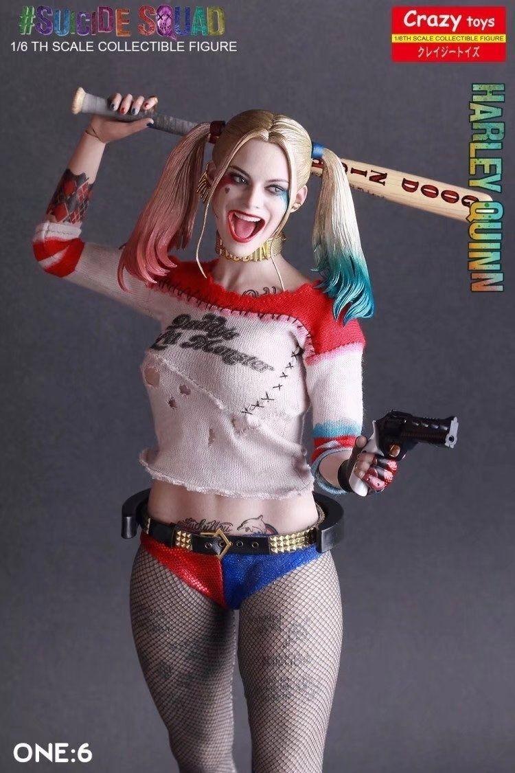DC Suicide Squad Crazy Toys Figure 28cm d'animation de Harley Quinn