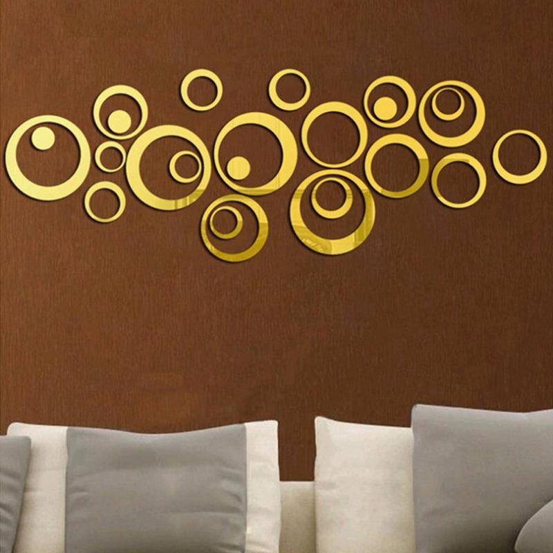 24 pcs / lot Acrylique Surface De Miroir Polka Dots Cercle Stickers Muraux Pour Enfants Bébé Chambres Home Decor Ronde Stickers Muraux DIY Art Mural