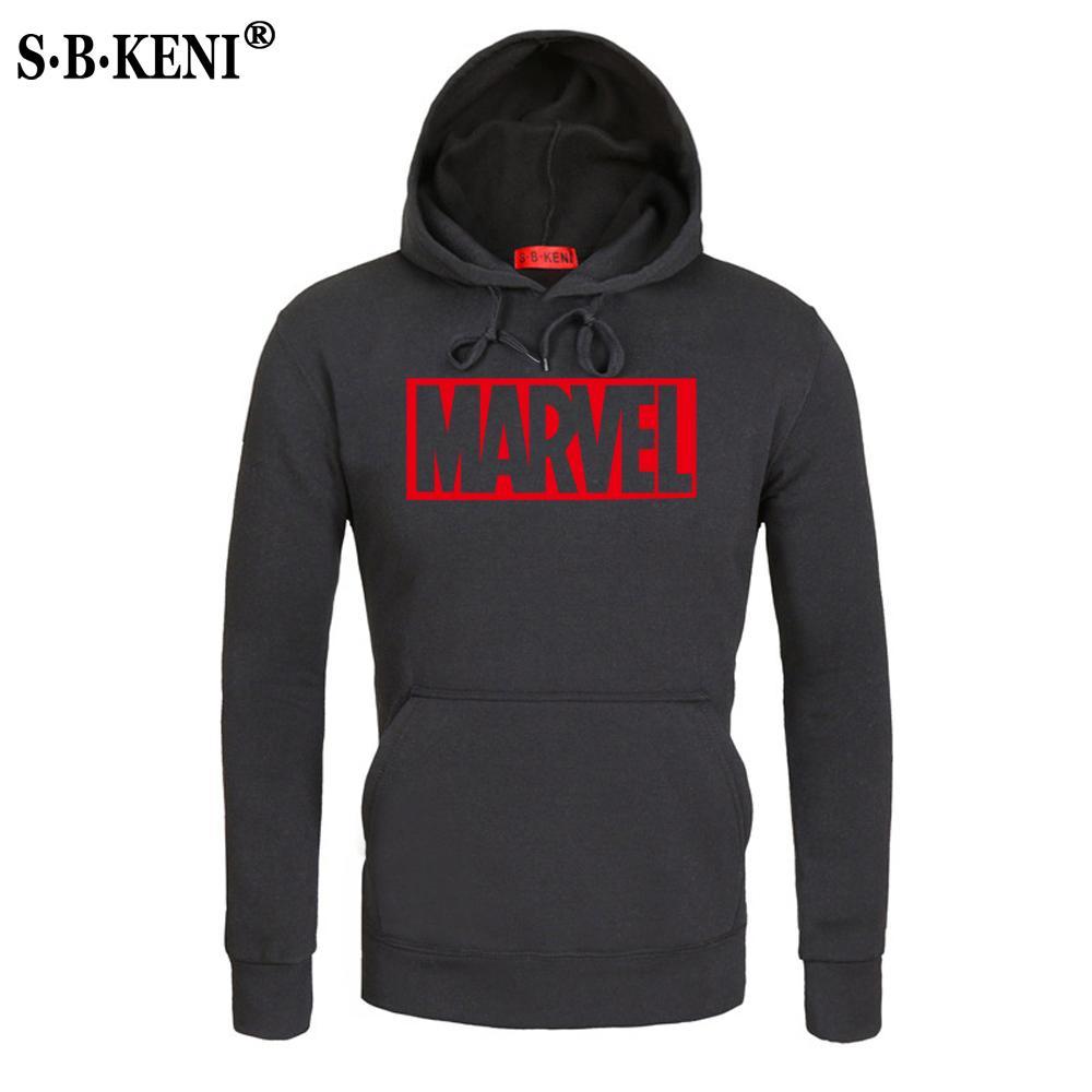MARVEL Red Brief Druck Mode Mens Hoodies Herbst Winter Marke Sweatshirts Männer Top Mantel Männlichen Kapuzenpulli MARVEL Y1892103
