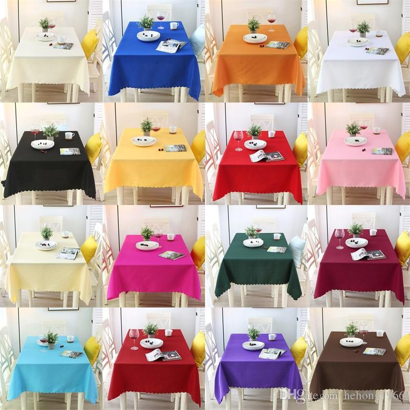Colores puros Wedding Table Cloths Rectángulo de fibra de poliéster Tables Cover para Banquet Party Decoration Supplies de calidad superior 18ll3 BB
