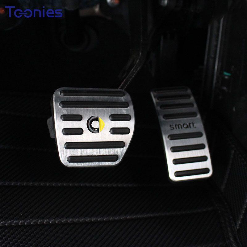Smart 453 Forfour Fortwo Gaspedal Rutschfeste Aluminiumlegierung 2 Stücke Bremspedal Platte Manuelle Pad Autozubehör Styling