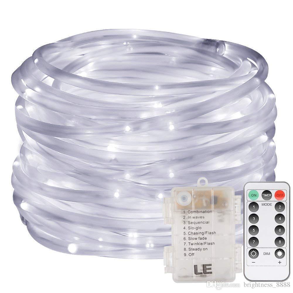 DEL Guirlande Électrique Batterie avec minuterie pour intérieur et extérieur blanc chaud 96