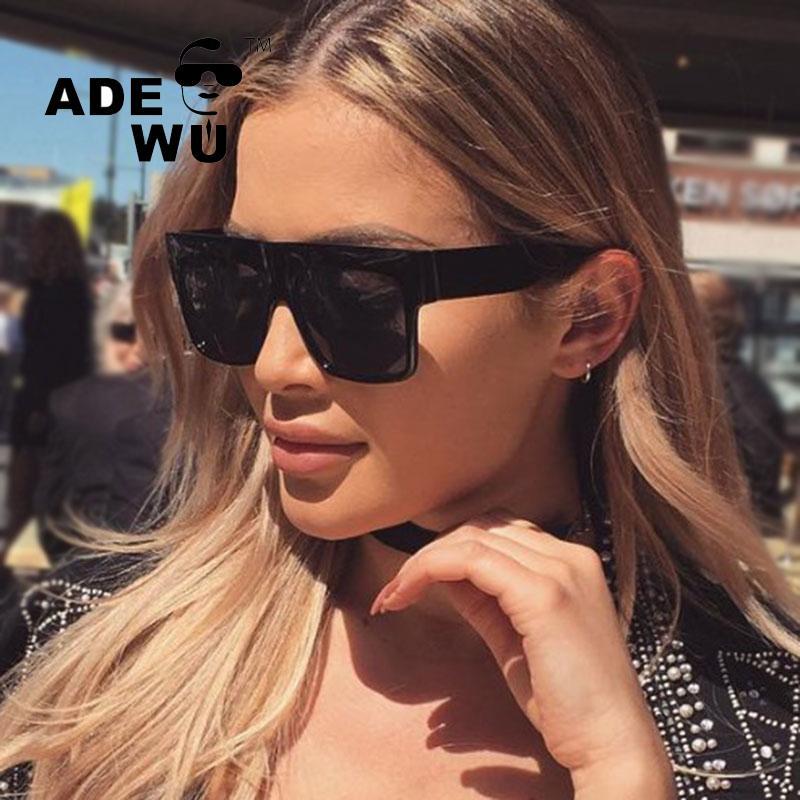 Adewu Famosos Óculos De Sol Das Mulheres Designer De Marca Retro Do Vintage Feminino Óculos de Sol Para Condução lunettes de soleil femme UV400 oculos D18101302