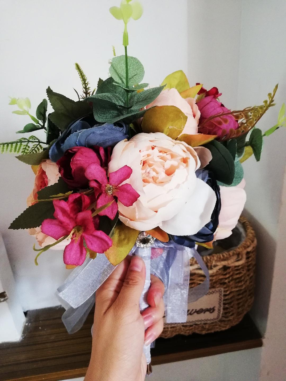 Romantic Wedding Bouquet Wedding Decorations Artificial Pinl Maroon Blue Peony Bouquet De Noiva Bridal Accessories Mothers Day Flower Delivery Online