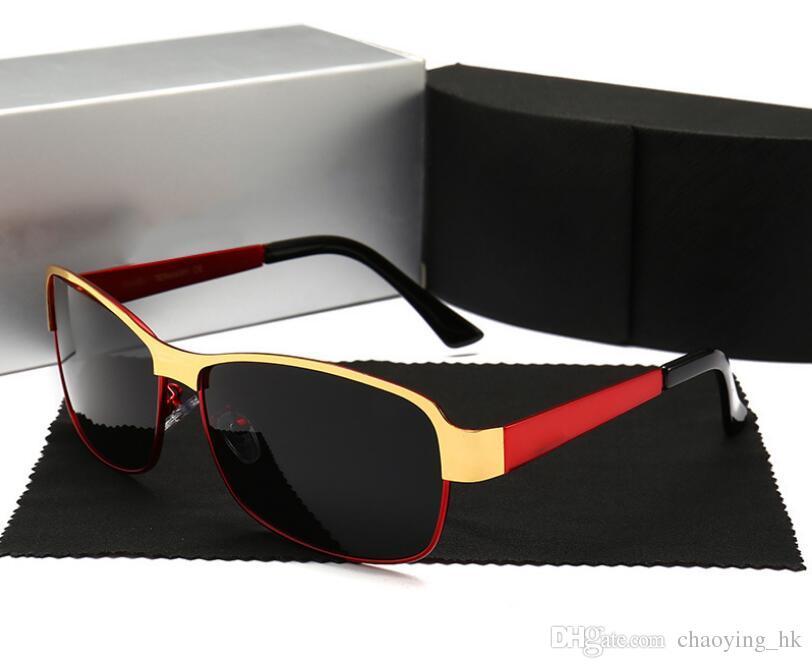 Gli occhiali da sole polarizzati degli uomini nuovi degli occhiali da sole anti-UV degli occhiali da sole di modo dello specchio del driver degli uomini di alta qualità 554 liberano il trasporto