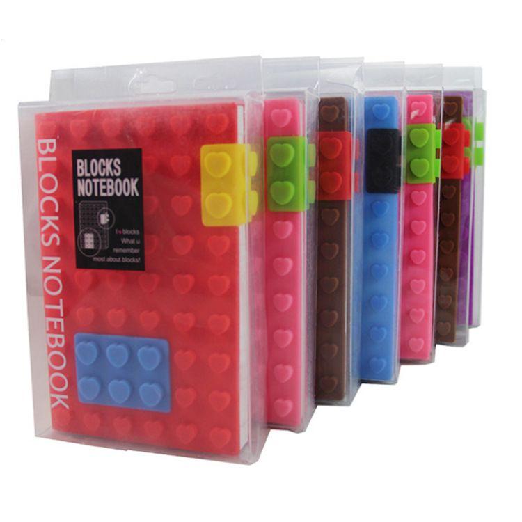 Blocos de silicone criativo notebook Estudante silicone notepads Jigsaw Diário livros em forma de coração dot bolso estudante crianças escola fornecedores