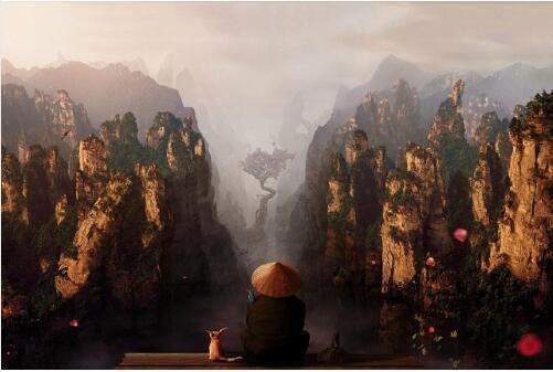 Домашнее Украшение Холст Плакат Печати Азиатский Китай Пейзаж Горы Фантазии Ткань Шелковый Плакат Альпийские Облака