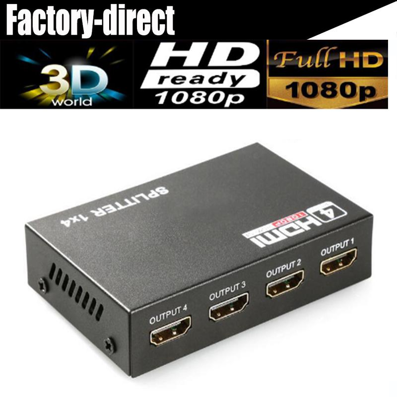 2019 4 Port HDMI Splitter 1X4 HDMI Distributor 1 In 4 Out 3D&Full HD1080P  With Power Supply For HDTV,DVD Player,PS4 Etc  From Robart, $22 16 |