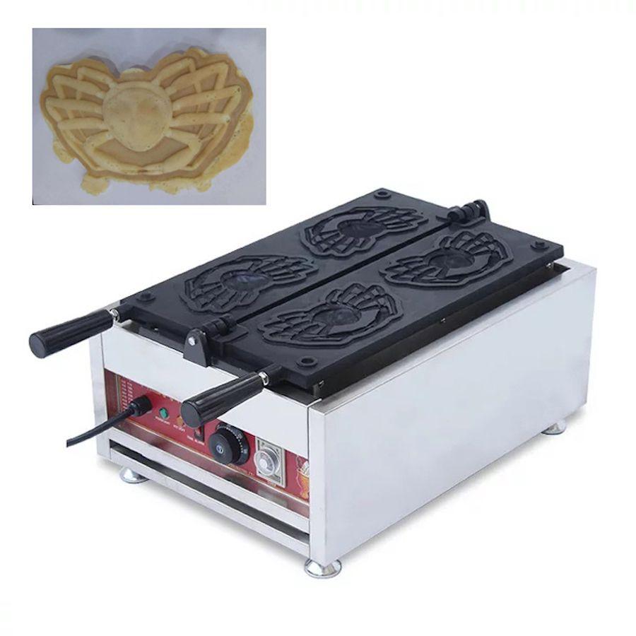 Yeni Tasarım Yengeç Şekli Waffle Maker Elektrikli Karikatür Waffle Yapma Makinesi Ticari Taiyaki Makinesi Snack Ekipmanları