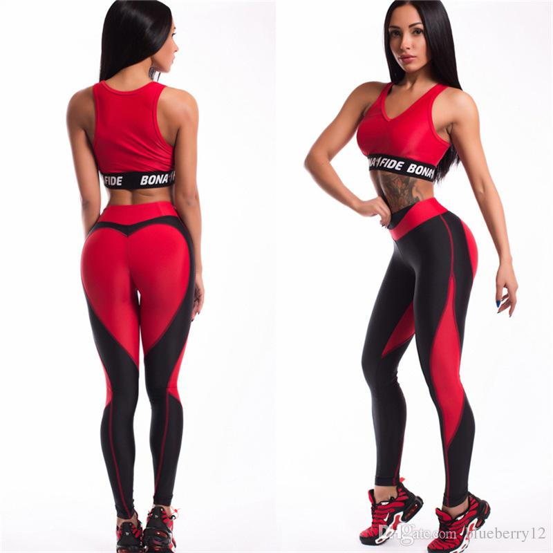 Leggings per donna a forma di cuore 2 colori Slim Fit Training Pantaloni da danza Skinny Elastico Legging Moda Yoga Pants