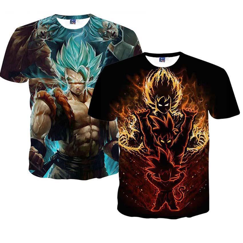 Dragon Ball Z Men S Summer T Shirts 3d Printing Super Saiyan Son Goku Black Zamasu Vegeta Dragonball T Shirt Tops Tees Funny Tee Shirt Buy T Shirt