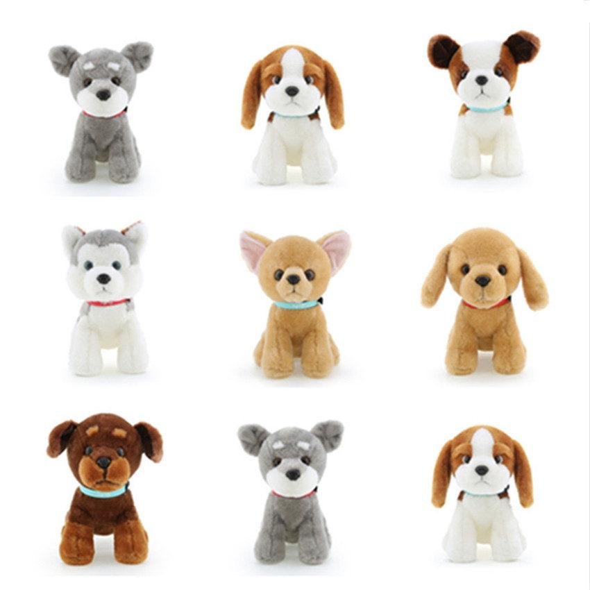 18cm Simulation dog plush toy Husky Bulldog/Buster Dog/Chihuahua/Bernard Dog Soft Stuffed Plush Dolls Kids toys for Children