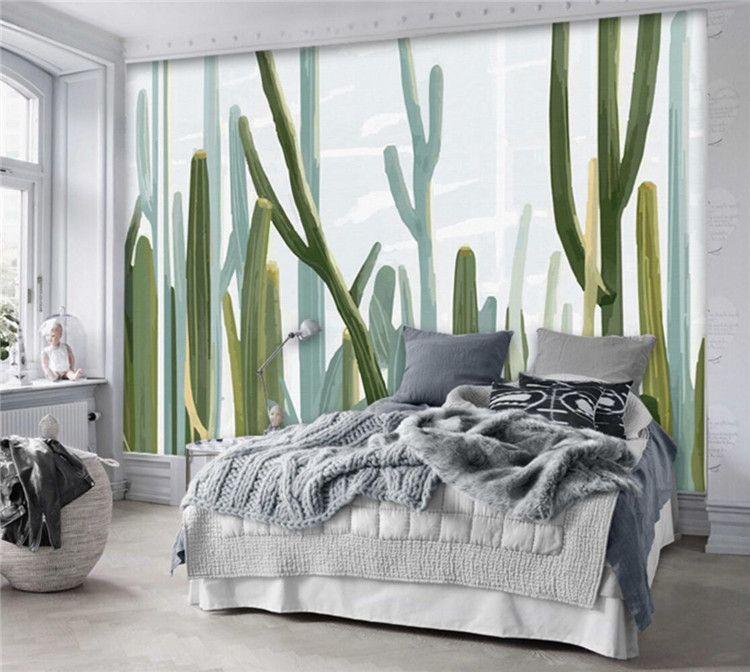 Großhandel Europäischen Stil Wohnzimmer 3d Tapete Kakteenpflanze Wandbild  Fototapete Schlafzimmer Wand Papier Aufkleber Papel De Parede Para Sala Von  ...