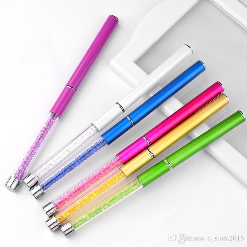 6 colori strass acrilico manico ciglia pennelli pettine a spirale mascara bacchette estensione ciglia applicatore spooler strumento di trucco