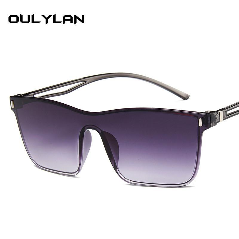 Oulylan Oversized Sunglasses Women Colorful Gradient Sun Glasses Big Frames Design