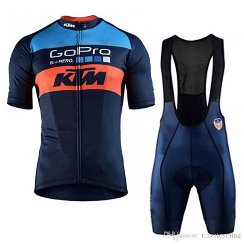 2019 KTM team Cycling Short Sleeves jersey bib shorts sets cycling clothing breathable outdoor mountain bike sportswear 90608Y