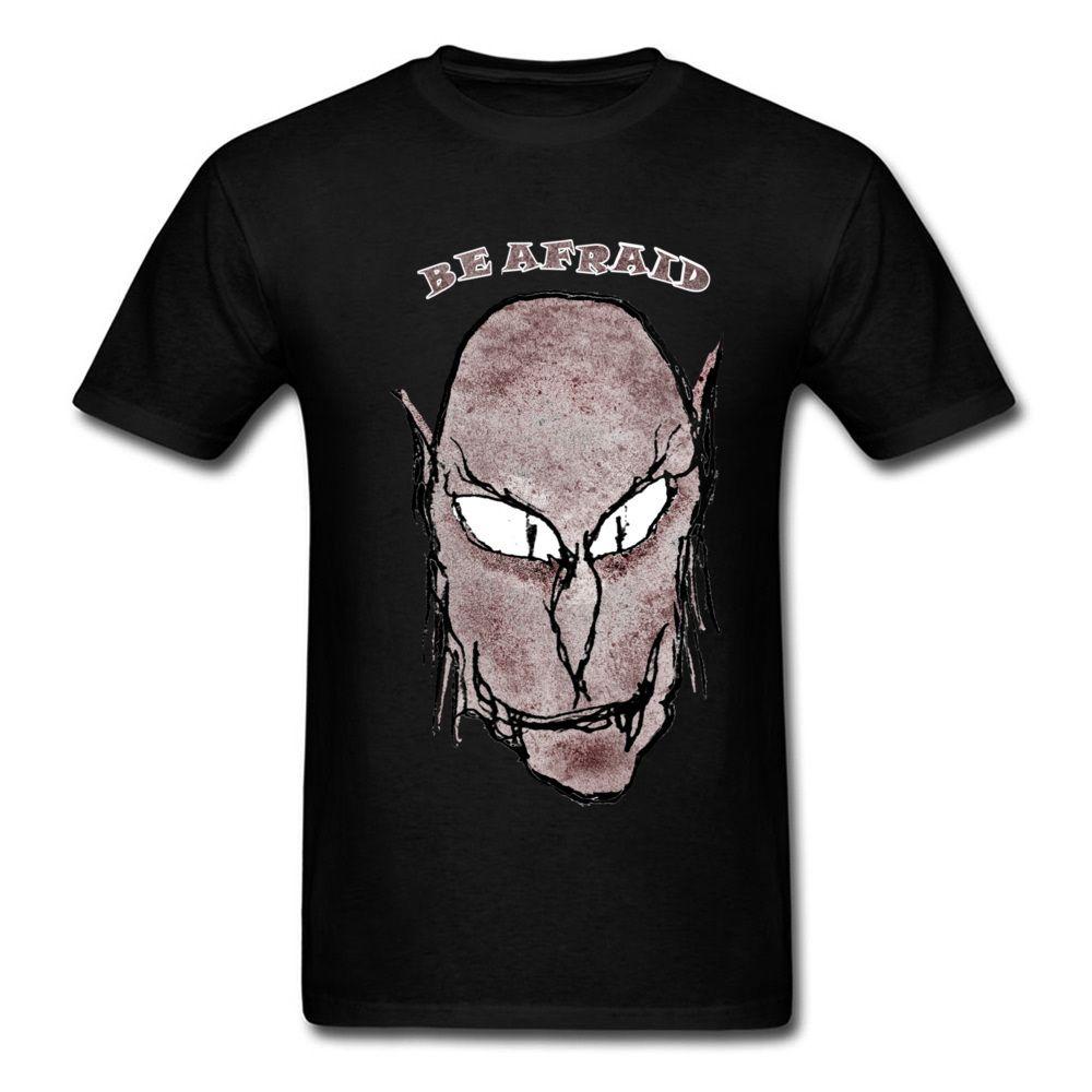 Scary Vampire Drawing T Shirt For Man Cartoon Tee Shirts Tops Cotton Tshirt Short Sleeve Apparel Custom Company