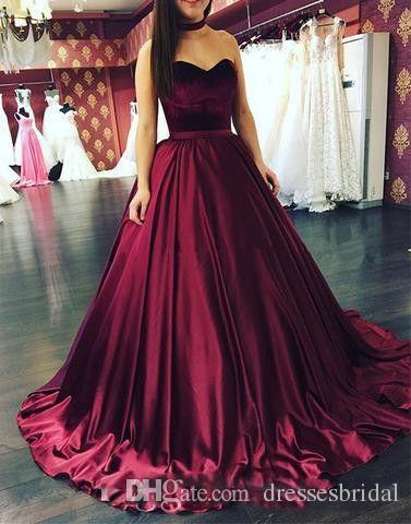 Burgundy Ball vestido de fiesta vestidos de fiesta largos 2018 nuevo sin mangas cariño elástico mancha de terciopelo formal vestidos de fiesta vestidos de fiesta por encargo más