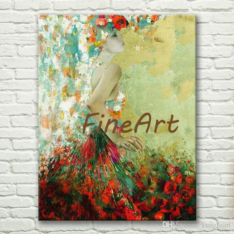 Boa qualidade handmade dança pintura arte dança menina paleta faca texturizada pintura a óleo pintura a óleo contemporânea moderna arte da parede da lona d