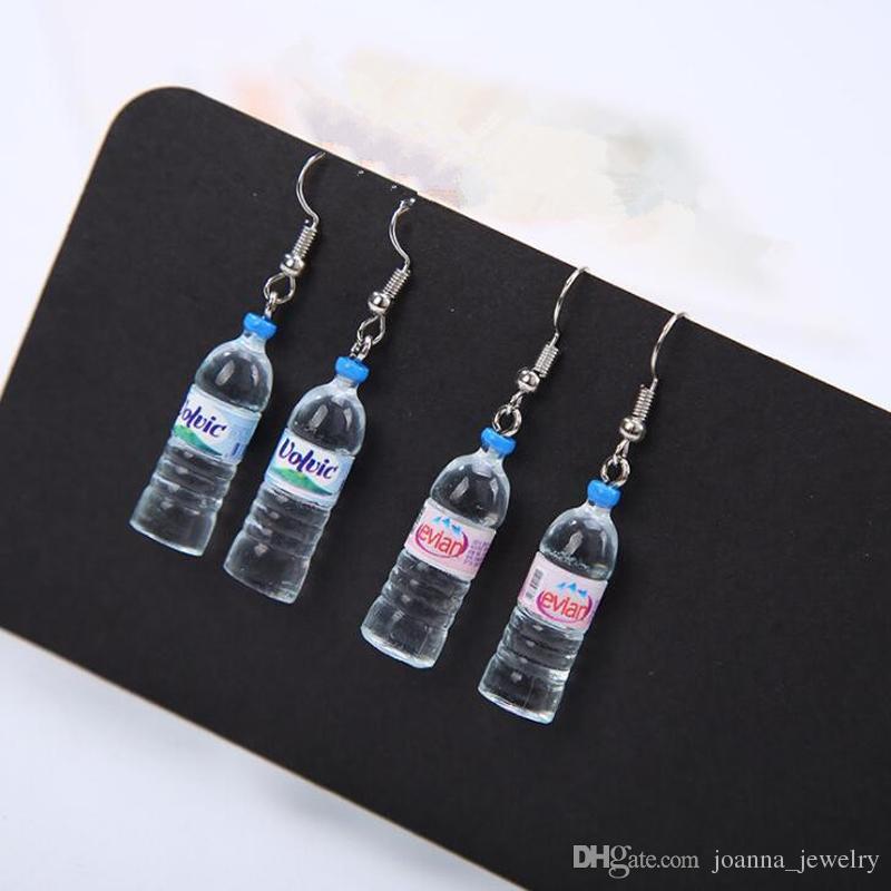 boucle d'oreille bouteille d'eau