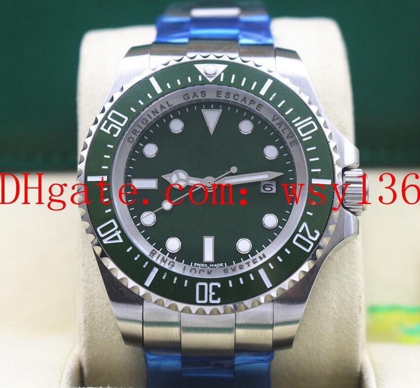 Uomini di lusso Guarda Sea-Dweller 116660 44 MM quadrante verde e orologi da uomo meccanici automatici movimento mens orologi zaffiro in ceramica zaffiro Asia 2813