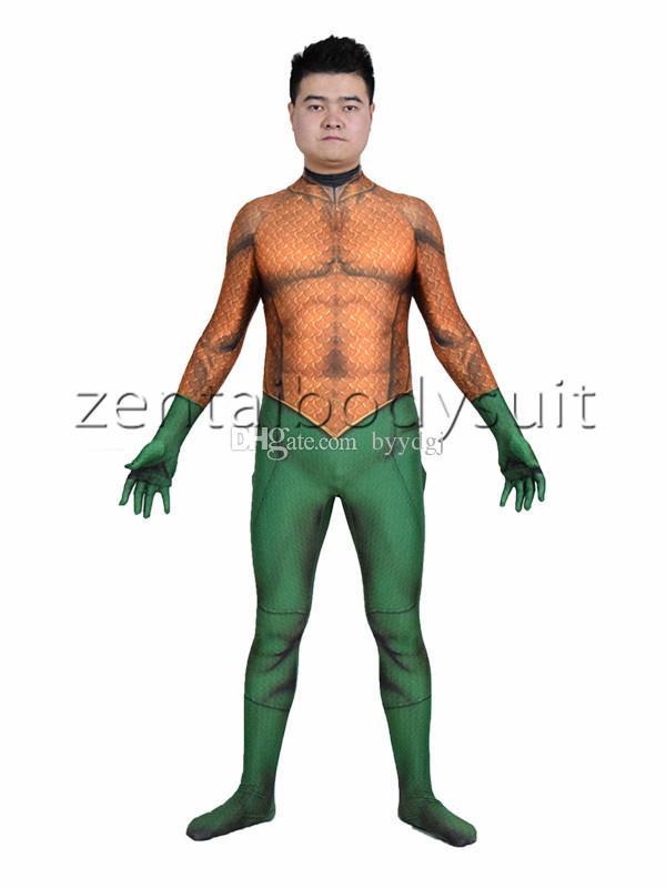 Costume Aquaman 3D | Aquaman Peau Lycra Spandex Cosplay Costume Zentai