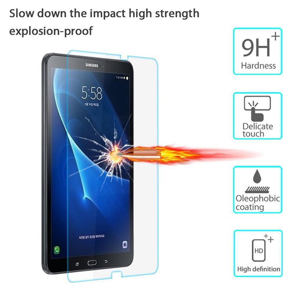 삼성 갤럭시 탭 A 10.1 2016 A6 T580 T585 10.1 인치 태블릿 PC LCD 화면 보호기 필름에 대한 강화 유리