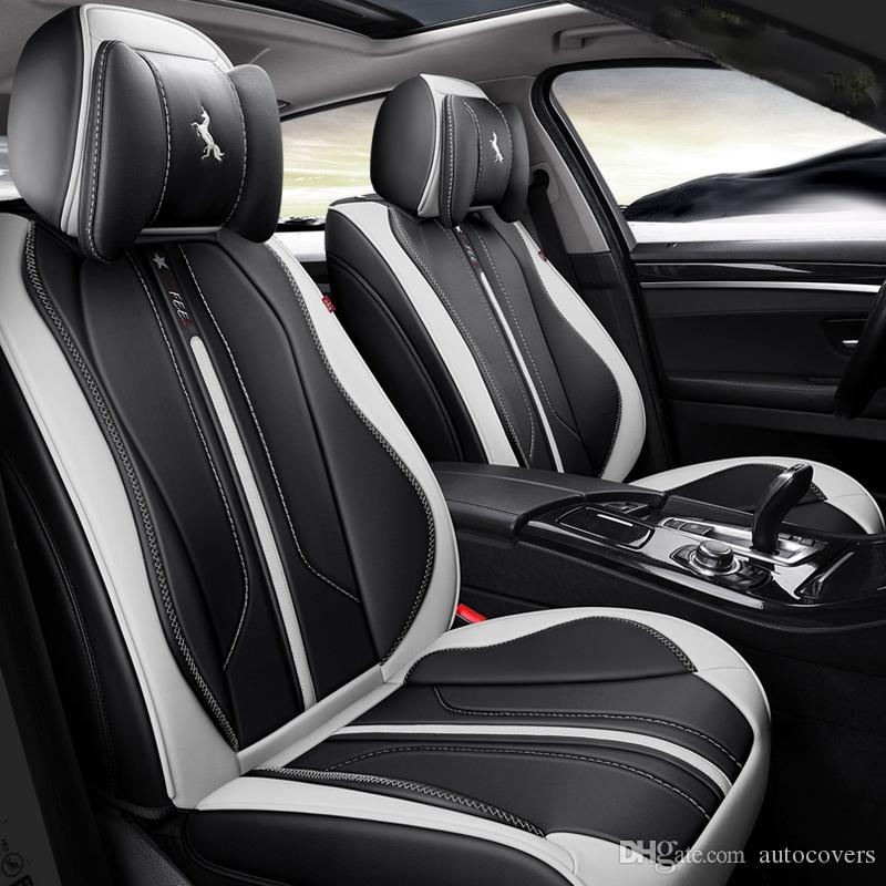Seat Covers For Trucks >> Universal Fit Car Accessories Seat Covers For Trucks Top Quality Pu Leather Five Seats Covers For Suv For Sudan Full Surround Sporty Design Truck Seat