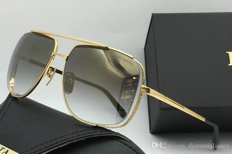 Paket Ücretsiz Kargo Güneş Gözlükleri Güneş gözlüğü 2018 Yeni Yaz NUMD180621-14 için olan kadınlar / Erkek Brown için 2018 Güneş Gözlüğü