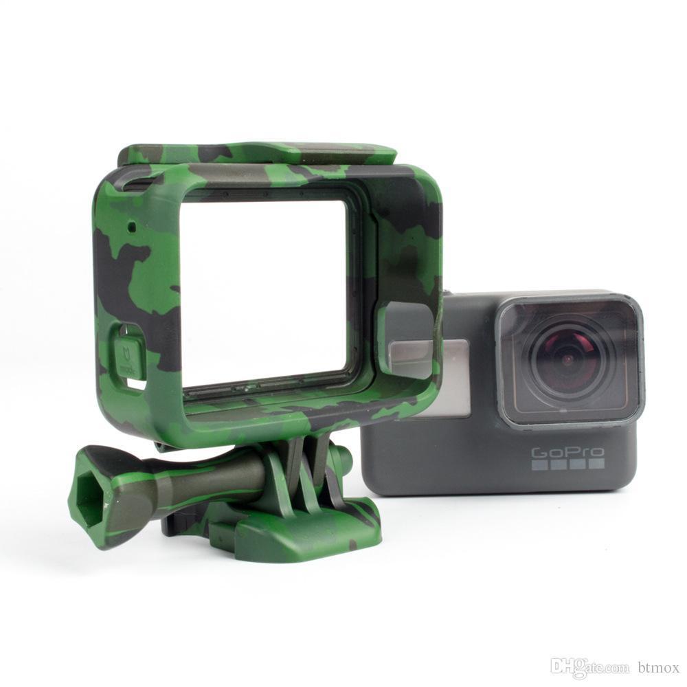 وصول Gopro Hero 6 5 البلاستيك واقية الإسكان الرياضة كاميرا القضية في الهواء الطلق التمويه الحماية للعمل كام اكسسوارات gopro