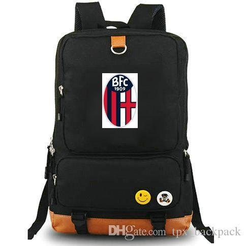 Bologna backpack Rossoblu club day pack Italy Football 1909 school bag Soccer team packsack Laptop rucksack Sport schoolbag Outdoor daypack