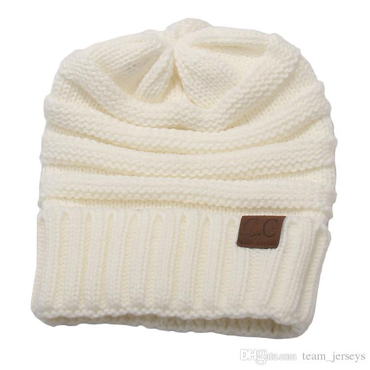 Compre Sombreros De Invierno Cc Trendy Beanie Crochet Para Mujer ...