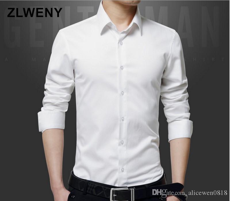 Производитель Мужские рубашки платья 5XL белый цвет рубашки нет карманный стенд воротник slim fit рубашки мужчины