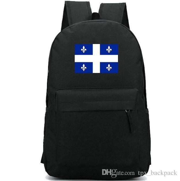 Zaino bandiera del Quebec Zaino Qwebec State Day Zaino gratuito per scuola Zaino casual Zaino buono Zaino sportivo Zaino da esterno