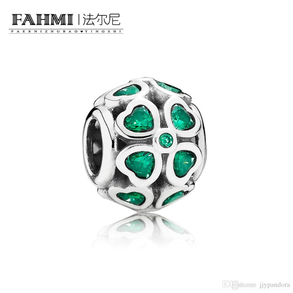 Fahmi 100% 925 Sterling Silver 1: 1 Oryginalny 791496CZN Autentyczne Temperament Moda Glamour Retro Bead Wedding Women Jewelry