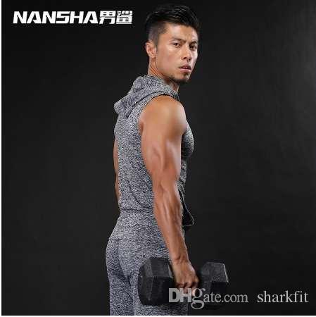 Fahion 브랜드 체육관 남성 탱크 탑 남성용 보디 빌딩 근육 조끼 Fitness Stringer 조끼 셔츠 NANSHA Clothing