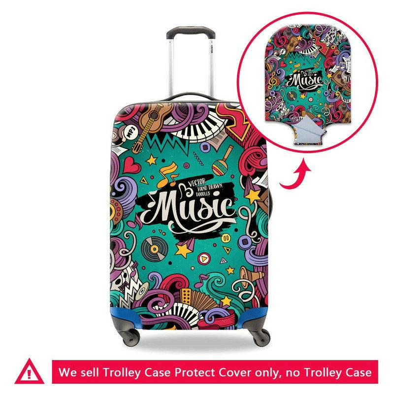 New Travel On Road Luggage Protector Covers Apply To 18-30 Inch Trolley Case Spandex Elastic Antifouling Men's Suitcase Cover Free Shipping