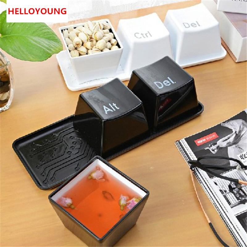 Предпочитаемый 1 набор из 3шт. Ctrl ALT DEL Дизайн клавиатуры Клавиатура Кофе Чай Кубок